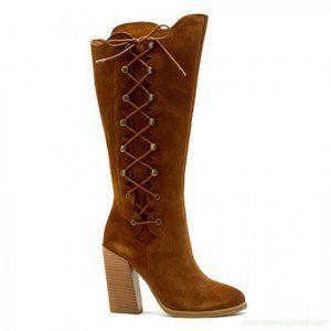 SBICCA Dante Block Heel Boot Cognac NEW